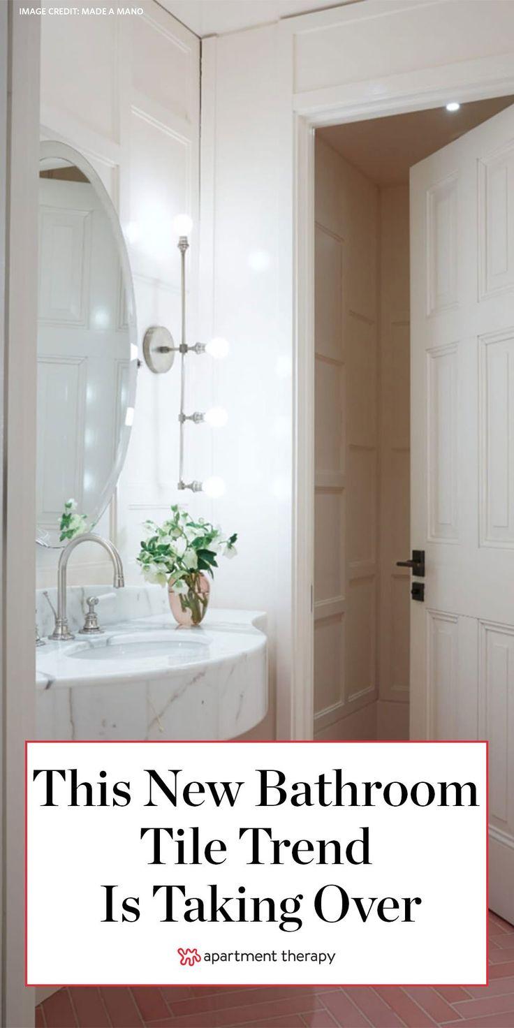 6 bathrooms with gorgeous herringbone tile floors
