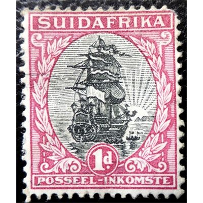 South Africa, Ship, postage stamp 1d, 1930 unused