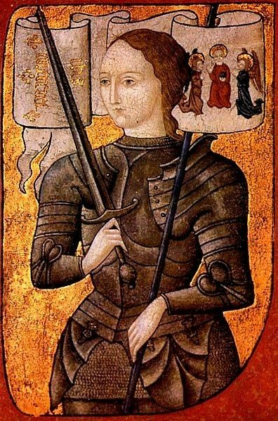 Joan of Arc, 1450-1500, oil on parchment