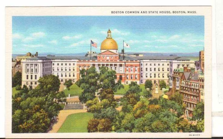 Undated Unused Postcard Boston Common and State House Boston Massachusetts MA