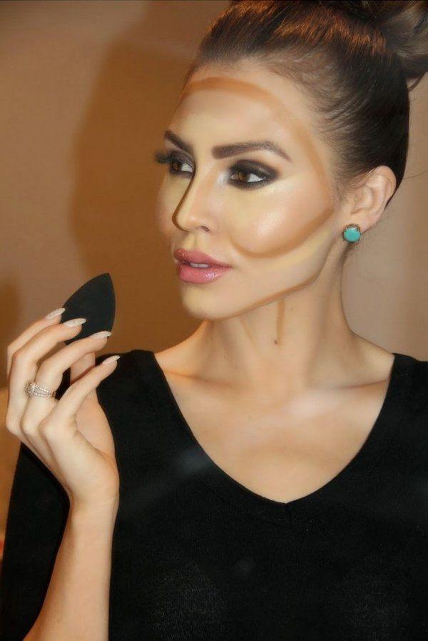 Уменьшить нос, приподнять брови, увеличить глаза - всего этого можно добиться, зная технику моделирования лица