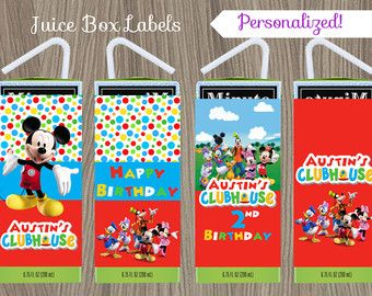 Mickey Mouse Water Bottle Labels Mickey Mouse by CutePixels