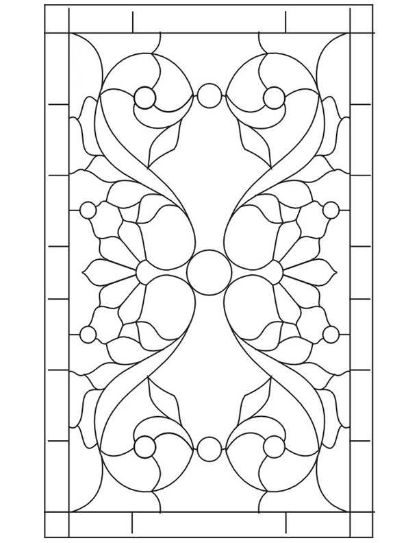 ★ Stained Glass Patterns for FREE ★ glass pattern 906 ★