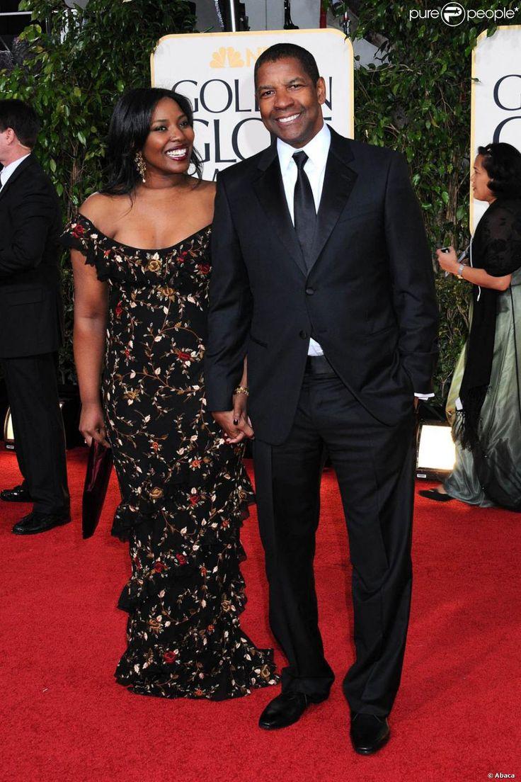 Denzel Washington And Wife   Denzel Washington avec sa femme Pauletta Washington lors des Golden ...