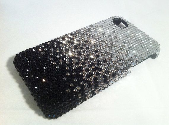 iPhone 5 Case swarovski Crystals black fading iPhone Case, shiny iPhone Covers, Glitter Galaxy s3 Case Galaxy s2 Case iPhone3g on Etsy, $24.89
