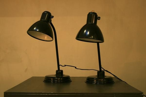Bauhaus Lampen von Christian Dell für Kaiser Idell, 1939