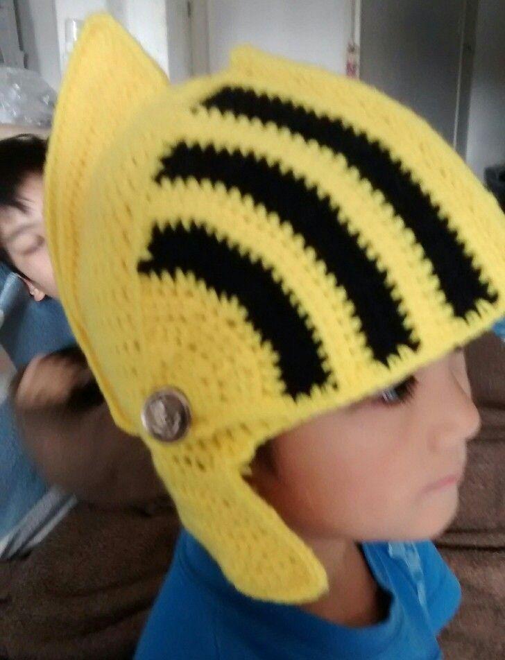 Warrior crochet hat