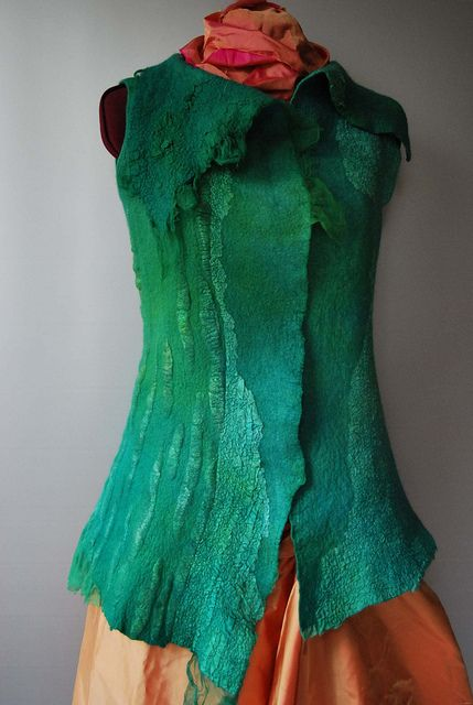 Felted waistcoat by sassafrasdesign, via Flickr