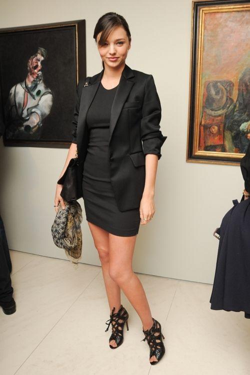 Black dress with black blazer