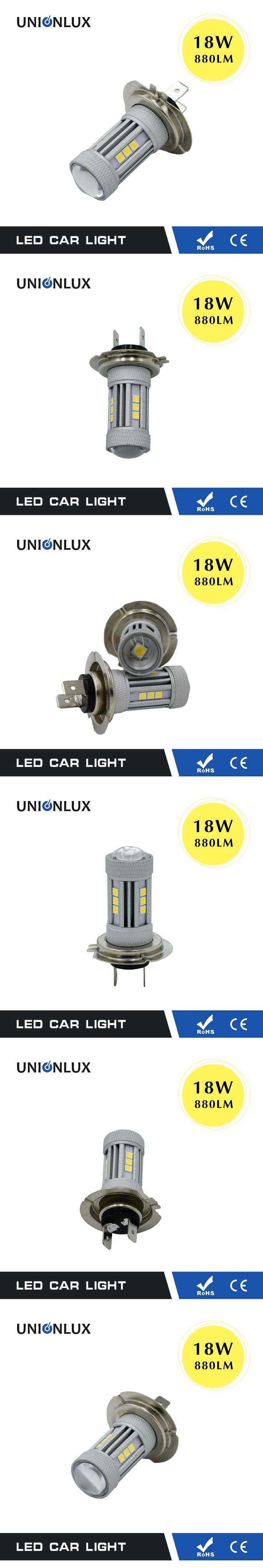 1 PCS LED Auto Bulb 18W W21W H7 H8 H9 H10 H11 P21/5W HB3 HB4 9005 9006 Fog Lamp 880LM Replacement 12V LED Lights