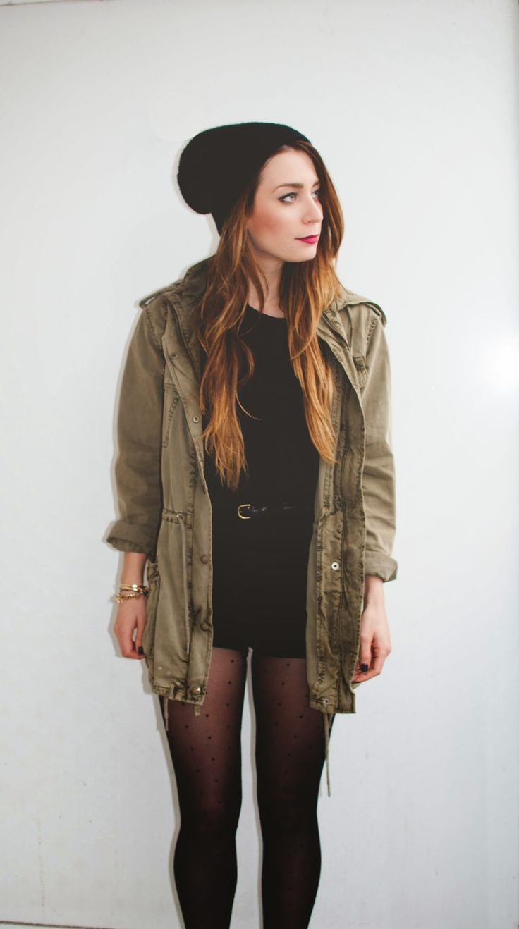 Shorts and Tights - grunge chic