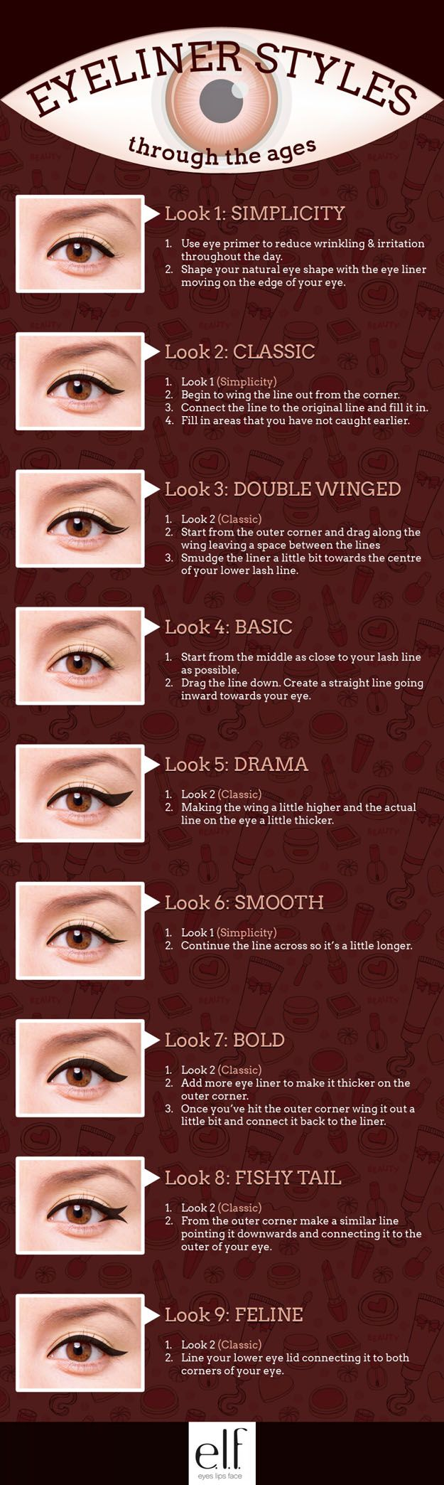 Simple Eyeliner Tutorials for Perfect Eyeliner different looks!