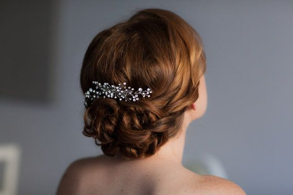 Sparkling rhinestone hair comb by One World Designs Bridal Jewelry