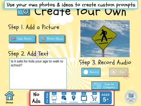 Write About This is an iPad app (free and paid versions available) containing visual, text, voice writing prompts for students. Students can respond to the writing prompts they see by writing directly in the app or anywhere else that you want them to write. Write About This........