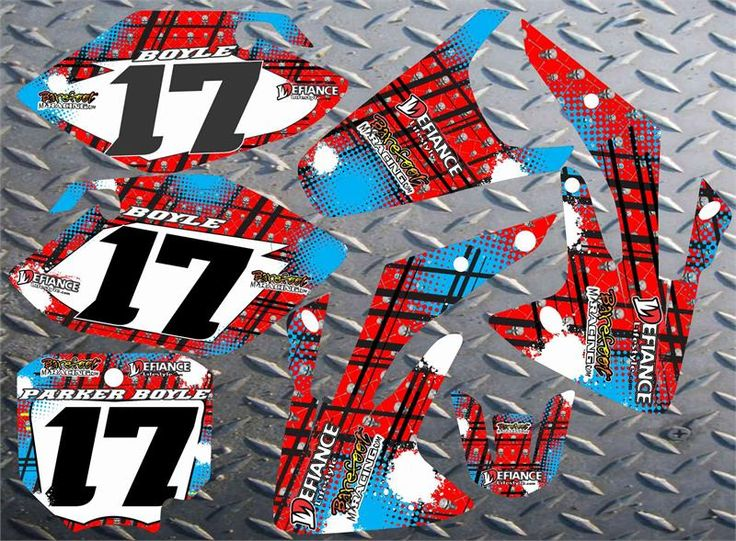honda cr 150 Decal graphic motocross background number kit