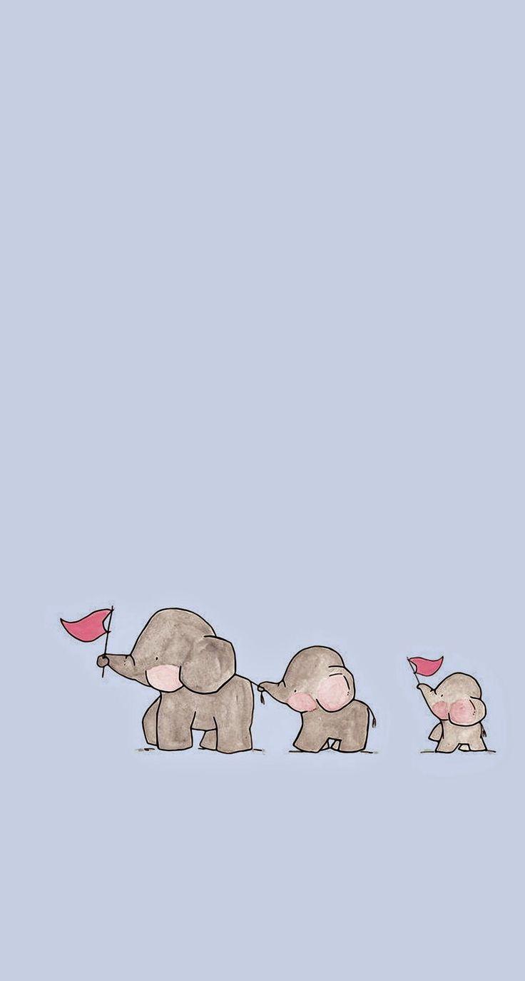 Elefantes Kawaiis:3