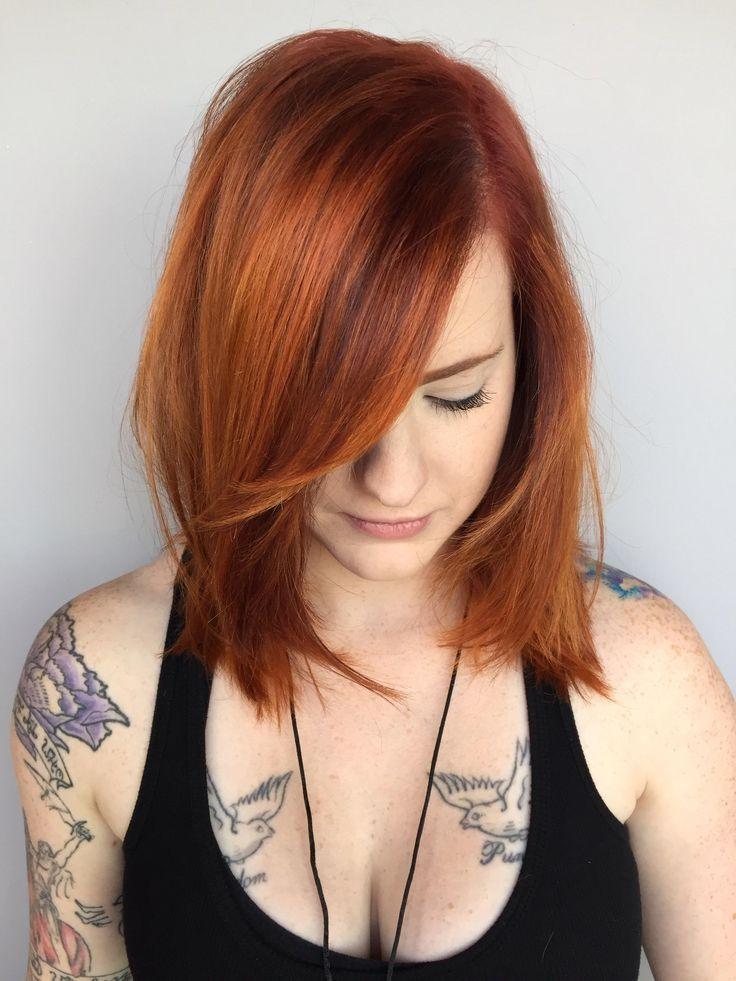 Vibrant, dimensional red hair color
