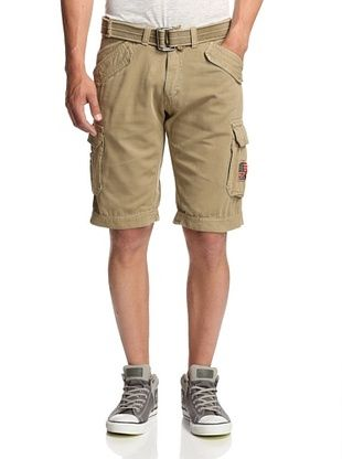 56% OFF X-Ray Men's Belted Cargo Shorts (Khaki)