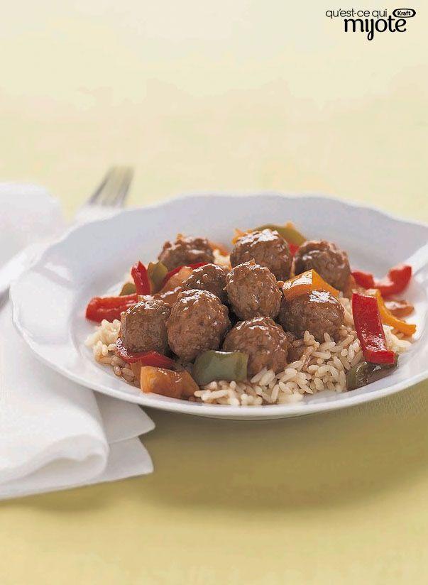 Mijoté de boulettes de viande en sauce aigre-douce #recette