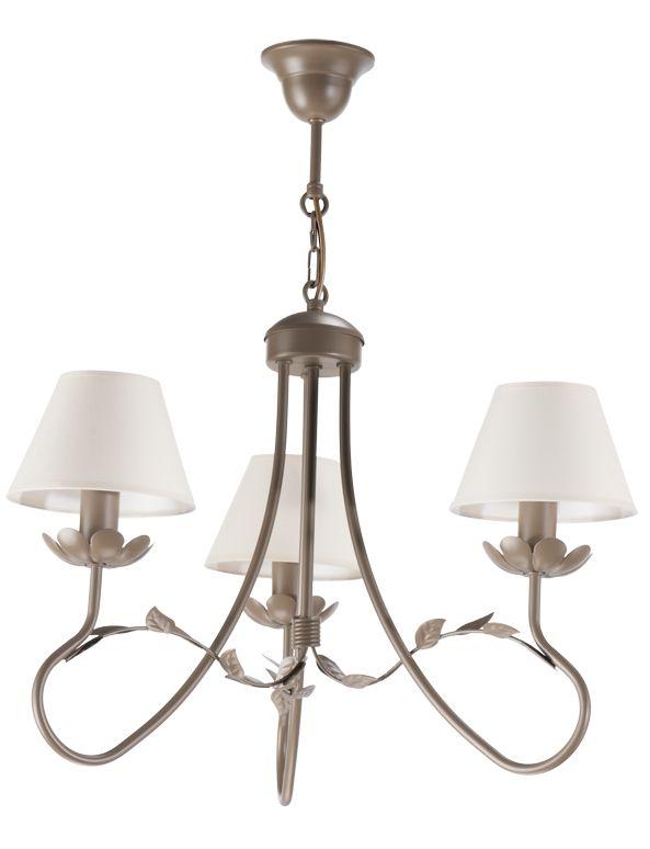 Lampa wisząca EDYTA 3  w stylu romantycznym dostępna na naszej stronie www.przystojnelampy.pl   #lampa #wisząca #lamp #lamps #lampy #oświetlenie # lampa z abażurem #abażur #styl romantyczny #romantic #romantyczny