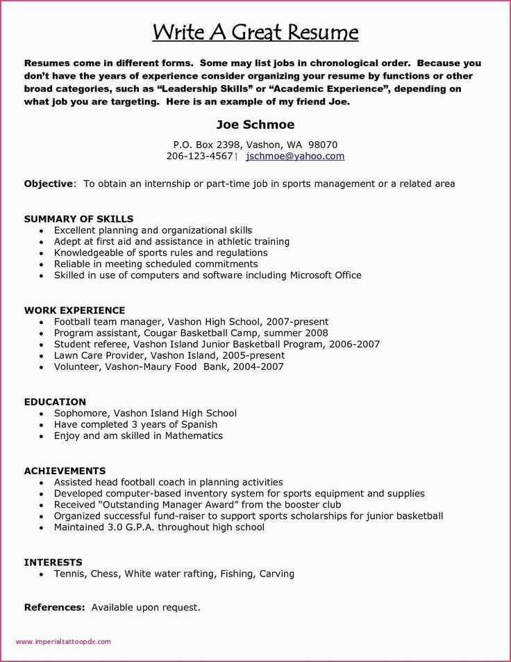 Leadership Experience Resume Examples New Resume format