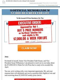 Publishers Clearing House claims Of the official in 2019 t