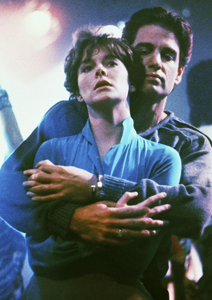 """Chris Sarandon y Amanda Bearse en""""Noche de miedo"""" (Fright Night), 1985"""