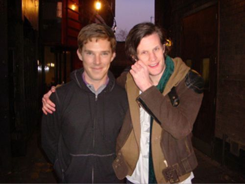Benedict Cumberbatch, Matt Smith. Benedict looks so young, but Matt looks the same as always. Guess that's what happens when you're a TIMELORD.
