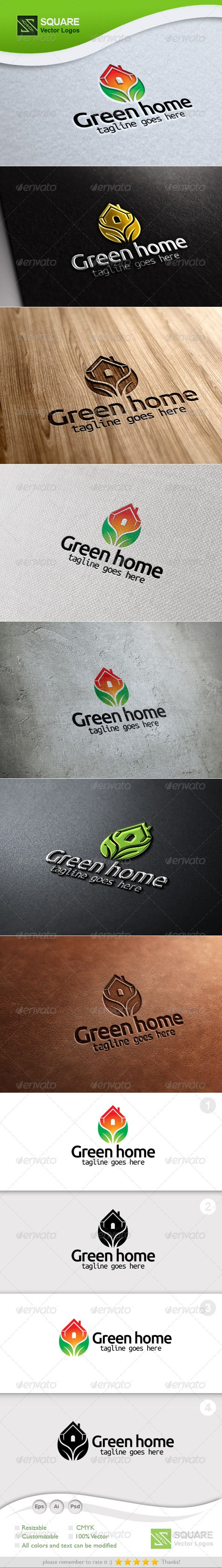 Eco, House Vector Logo Template — Photoshop PSD #house #plant • Available here → https://graphicriver.net/item/eco-house-vector-logo-template/5345585?ref=pxcr