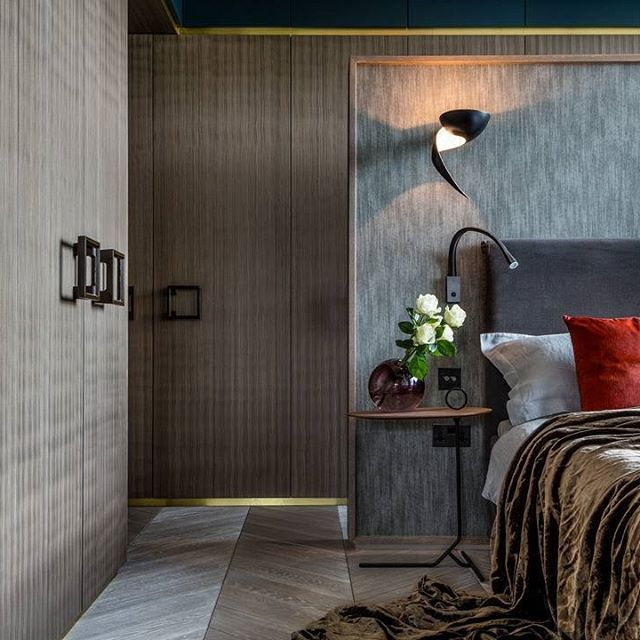 I've been thinking about bedrooms and personal style. Here's one from our recent Chiswick apartment project.