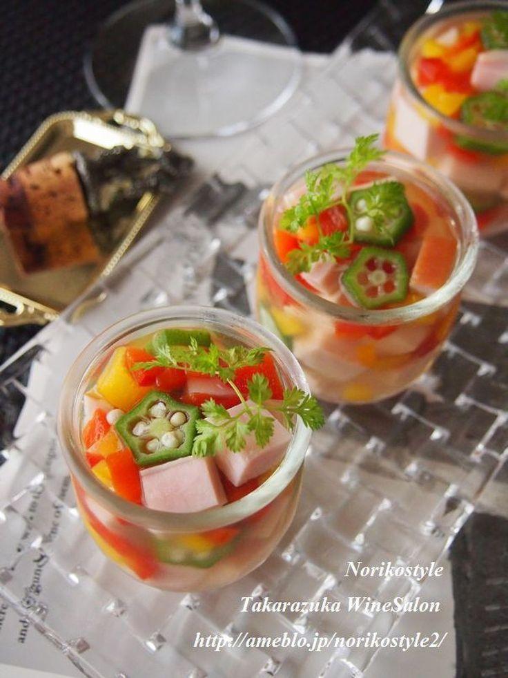夏野菜とハムのゼリー寄せ by 紀子 | レシピサイト「Nadia | ナディア」プロの料理を無料で検索