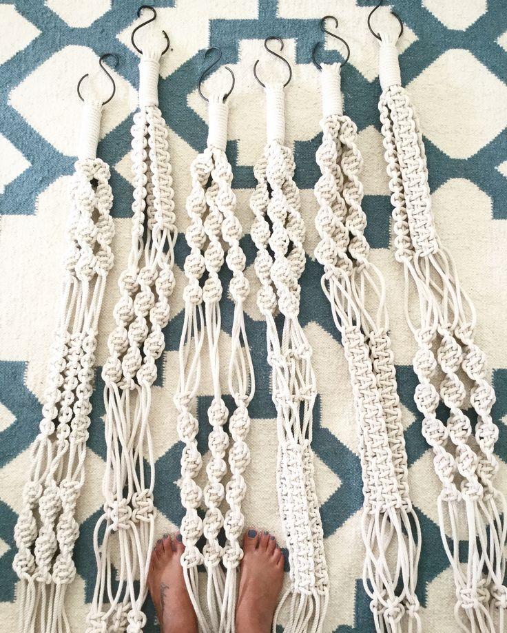 Macrame Plant Swings by Emilia Lorena www.emilialorena.com.au