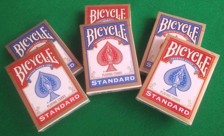 6X BARAJAS DE CARTAS DE POKER 808 BICYCLE STANDAR 3X ROJO Y 3X AZUL REF:1