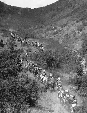 Ute Indians on Ute Pass Wagon Road