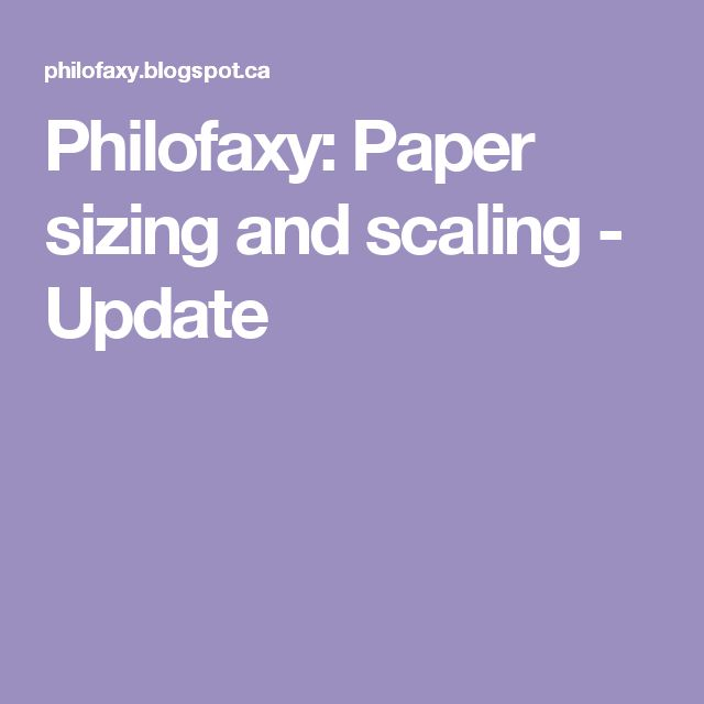 Philofaxy: Paper sizing and scaling - Update