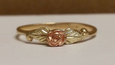 Vintage Ladies 10K Black Hills Gold Ring - Rose - Size 8 - Take A Look!