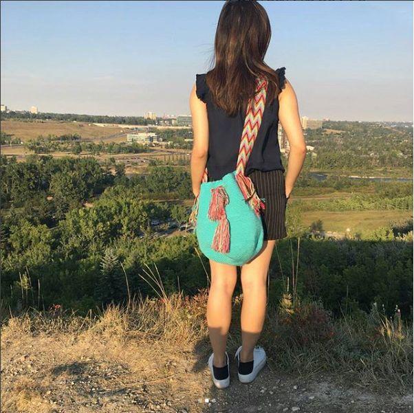#wayuumochilas #wayuubags #wayuu #handmadebags #originaldesign #yycdowntown #yycfashionstylist #yyc #yycbags #tropicalvibes #tropicalvibesyyc #calgary #calgaryviews #summervibes #MyTropicalVibesFollowingADream