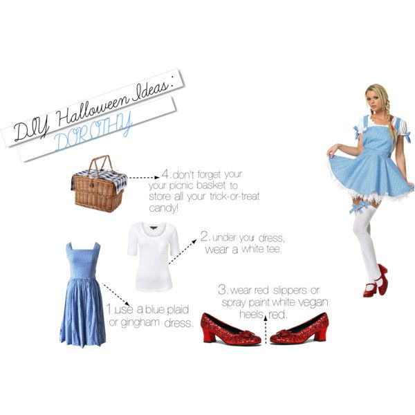 """DIY Dorothy Halloween Costume!"" by sea-bliss on Polyvore"