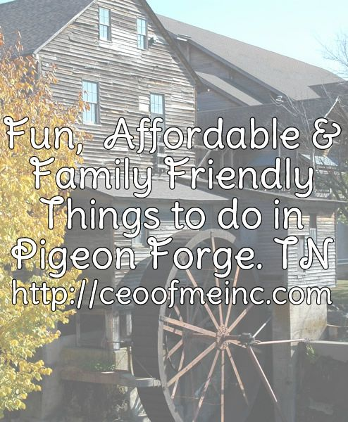 Fun, Affordable & Family Friendly Things to do in Pigeon Forge, TN #PigeonForge #travel #familyvacation