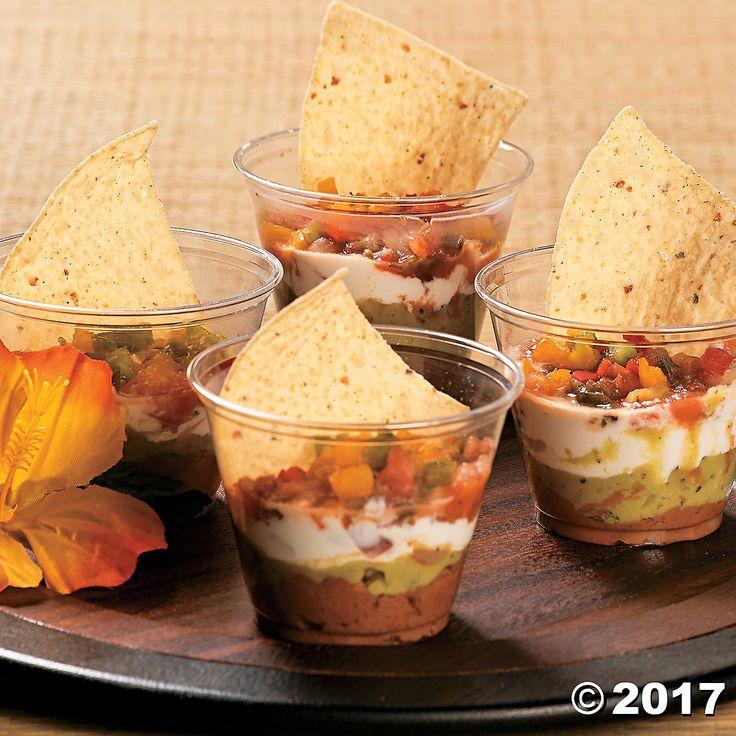 Luau Snack Cups Idea - OrientalTrading.com