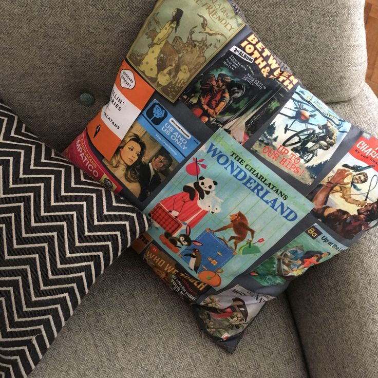 Charlatans all the books 40cm cushion by woodenwedge on Etsy https://www.etsy.com/uk/listing/556297481/charlatans-all-the-books-40cm-cushion