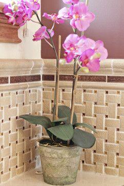 Unique Backsplash Above Bathtub   Eclectic   Bathroom Tile Around Tub