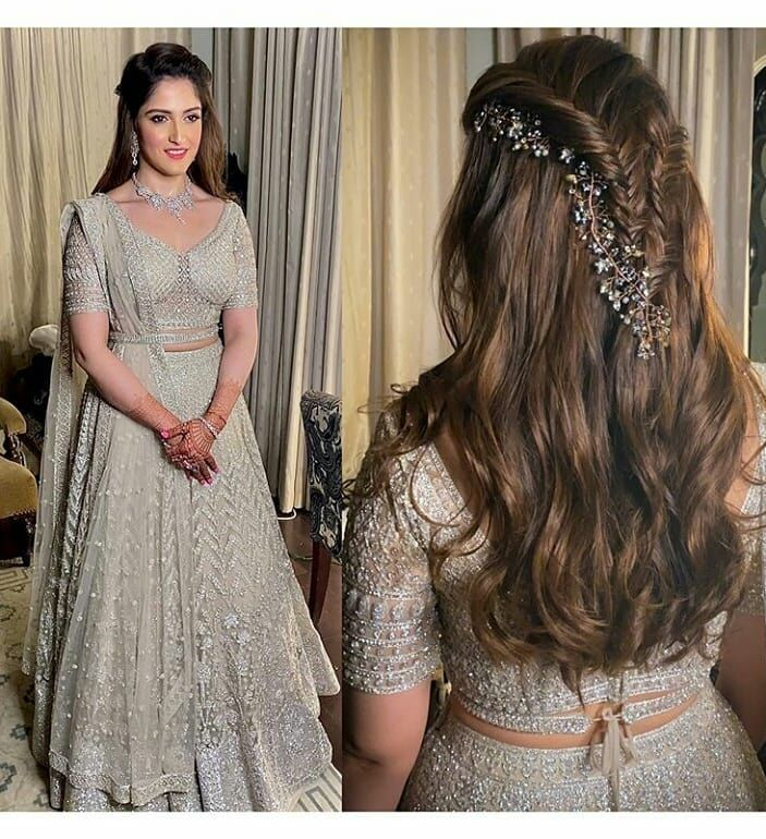 Mehndi Hairstyle Ideas Hairstyles For Gowns Indian Hairstyles Lehenga Hairstyles