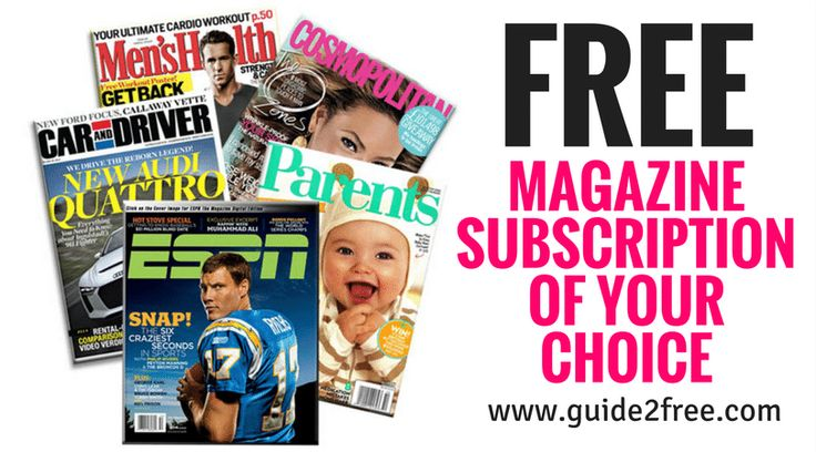 Get a FREE Magazine Subscription of Your Choice!!  Choose any of the magazines available. No bills, no credit cards needed. Never pay for another magazine again! via @guide2free