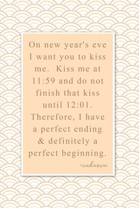 on new year's eve...
