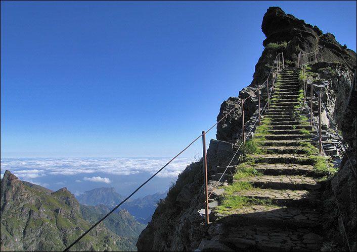 The way up to Pico do Areeiro, Madeira.