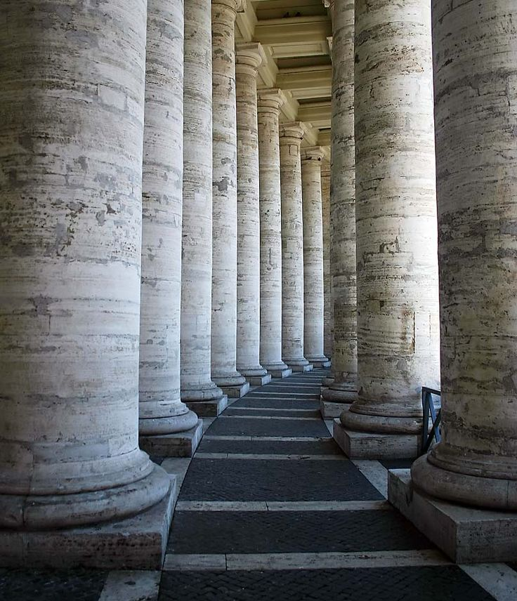 Kolonnaden Petersplatz Rom