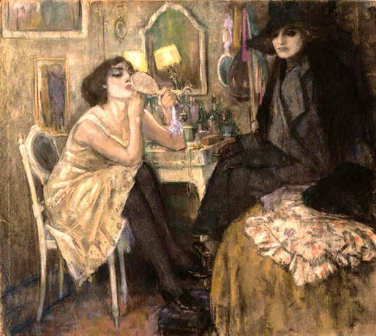 Woman at Her Toilette - Leo Gestel - (Dutch, 1881 - 1941)