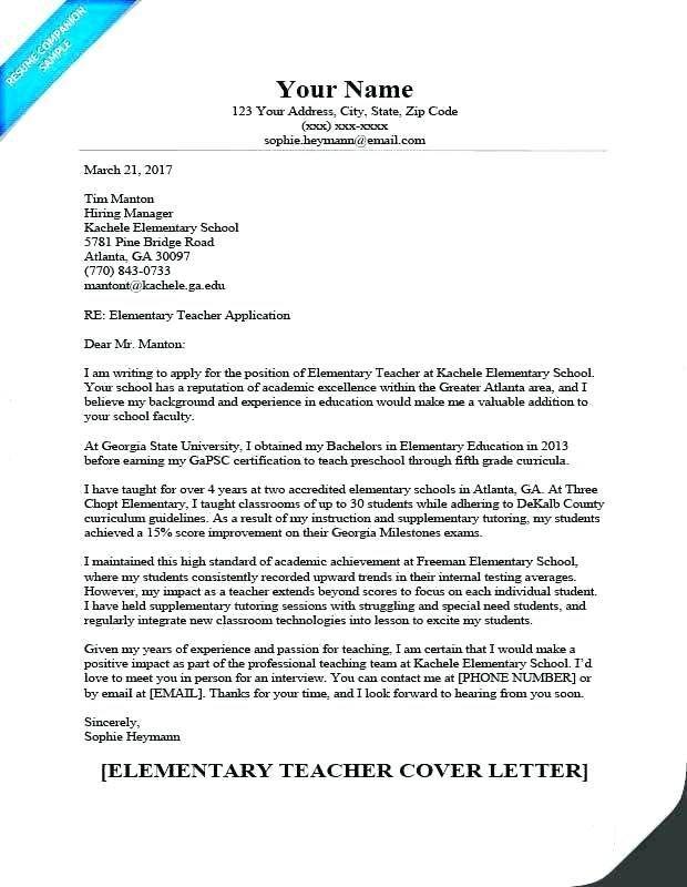 High school teacher cover letter template for teaching ...