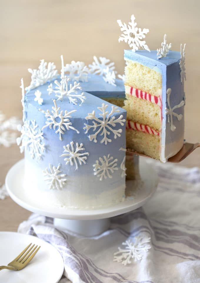 Snowflake Cake – Preppy Kitchen – Kuchen – #Adrette #Cakes # Kitchen #Snow … …   – Torten